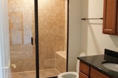 Single Inline Semi Frameless shower doors|Shower Door Glass DC