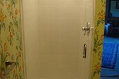 frameless-single-shower-door-floral-wallpaper-jpg